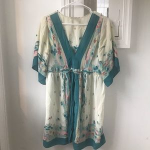 Anthropologie Dolman Sleeve Silk Dress
